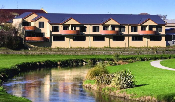 Riverside View Of Waterfront Motels In Marlborough